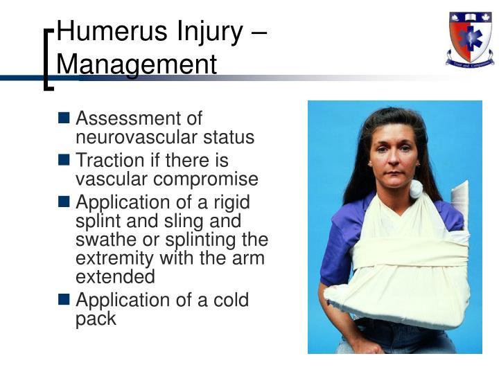 Humerus Injury – Management