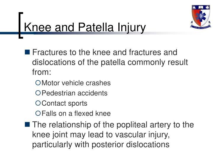 Knee and Patella Injury