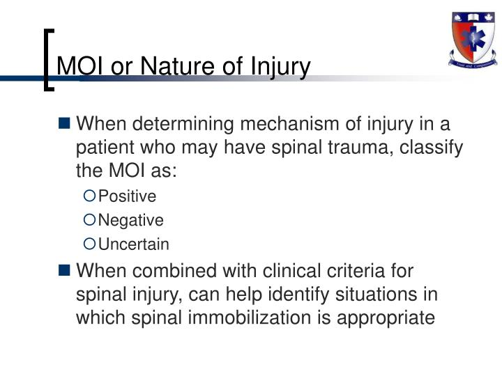 MOI or Nature of Injury