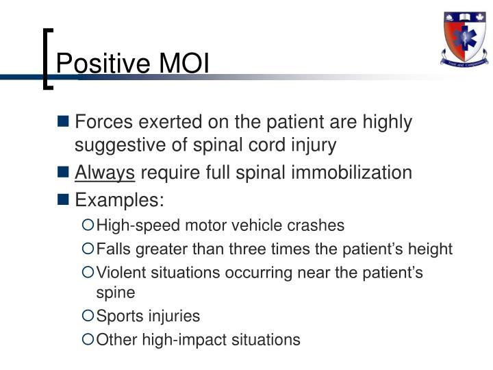 Positive MOI