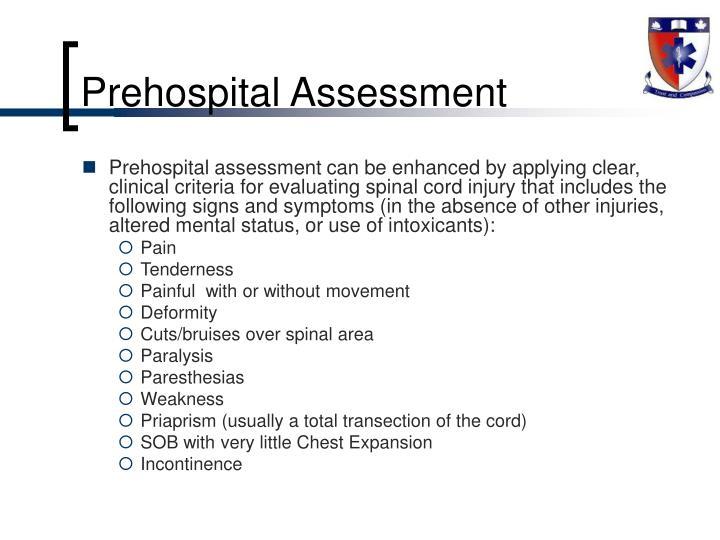 Prehospital Assessment