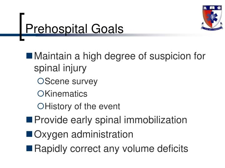 Prehospital Goals