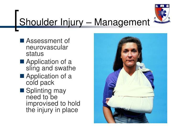Shoulder Injury – Management