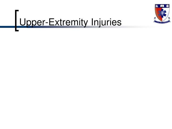 Upper-Extremity Injuries