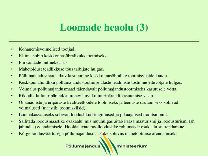 Loomade heaolu (3)