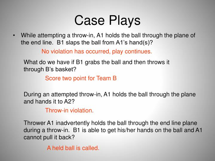 Case Plays