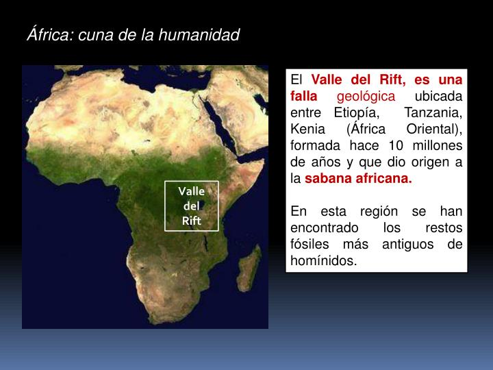 África: cuna de la humanidad