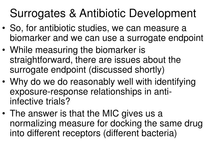 Surrogates antibiotic development1