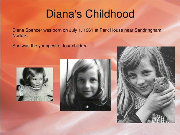 Diana s childhood