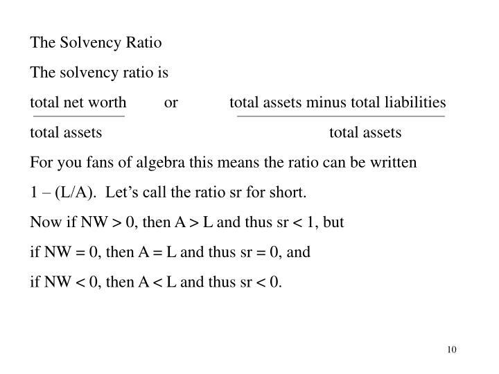 The Solvency Ratio