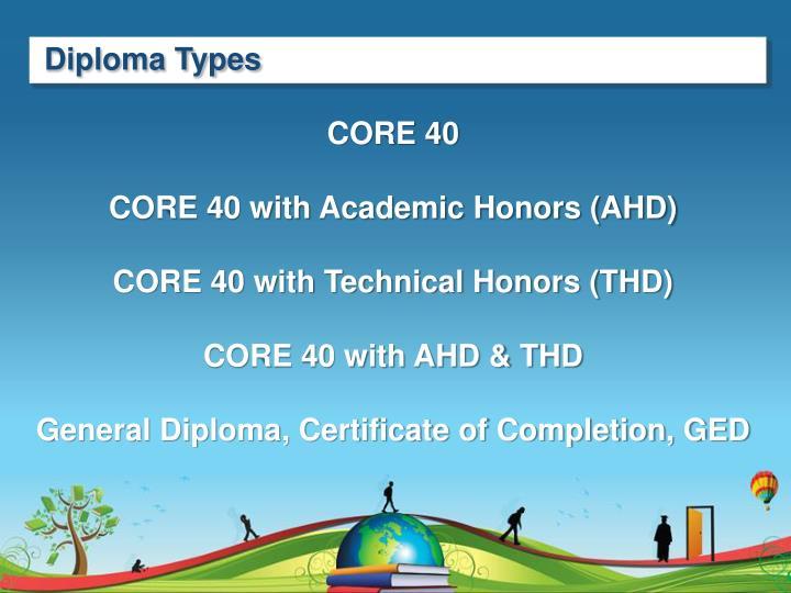 Diploma Types