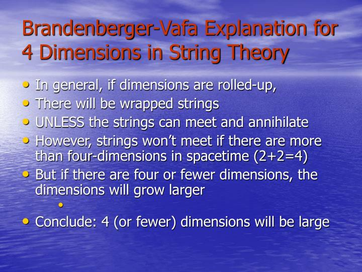 Brandenberger-Vafa Explanation for 4 Dimensions in String Theory
