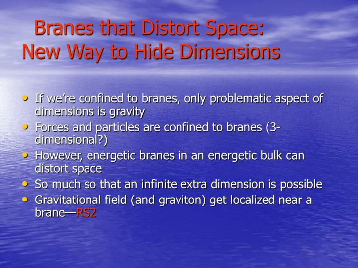 Branes that Distort Space: