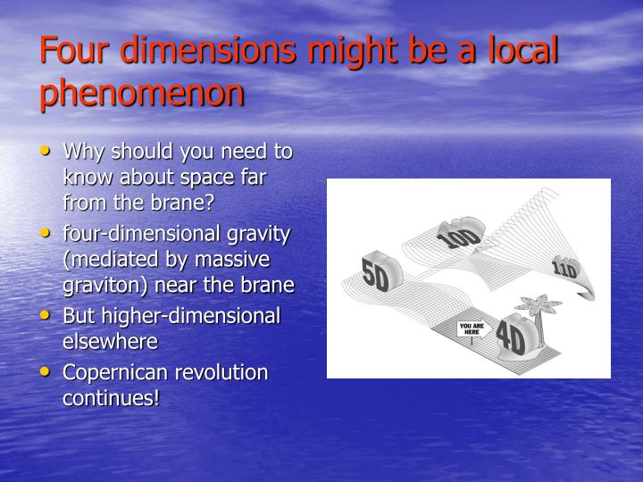 Four dimensions might be a local phenomenon