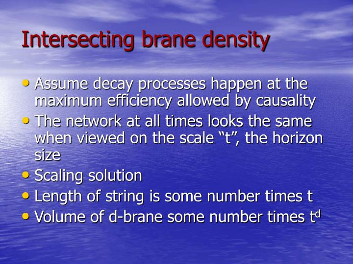 Intersecting brane density