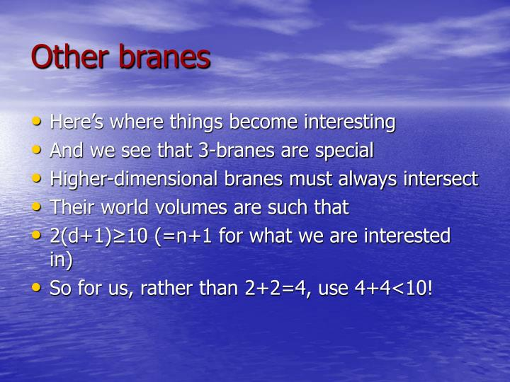 Other branes