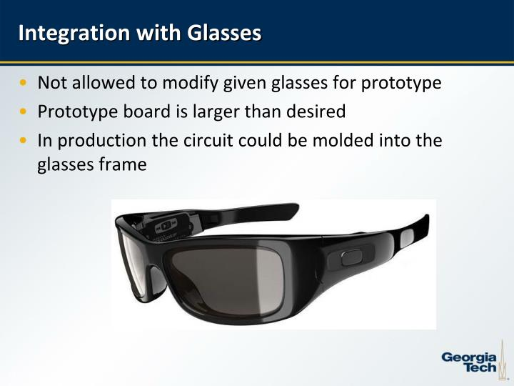 Integration with Glasses