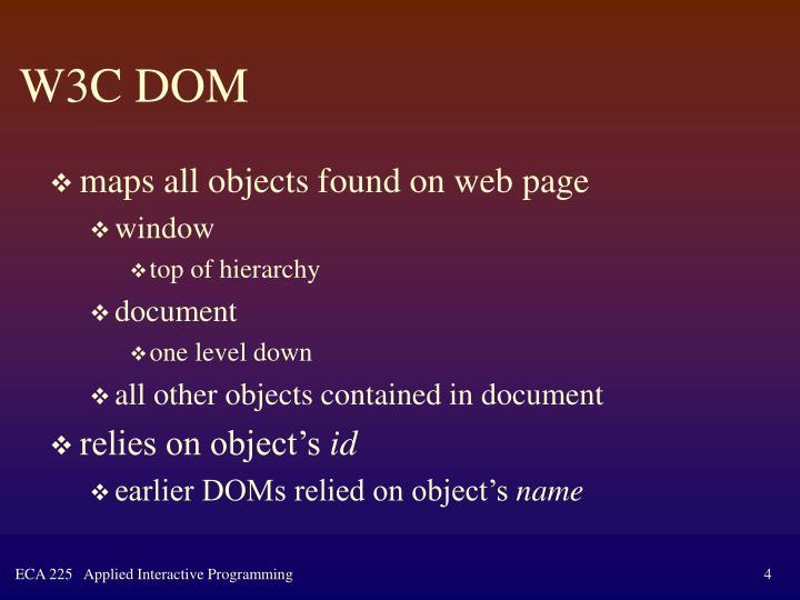 W3C DOM