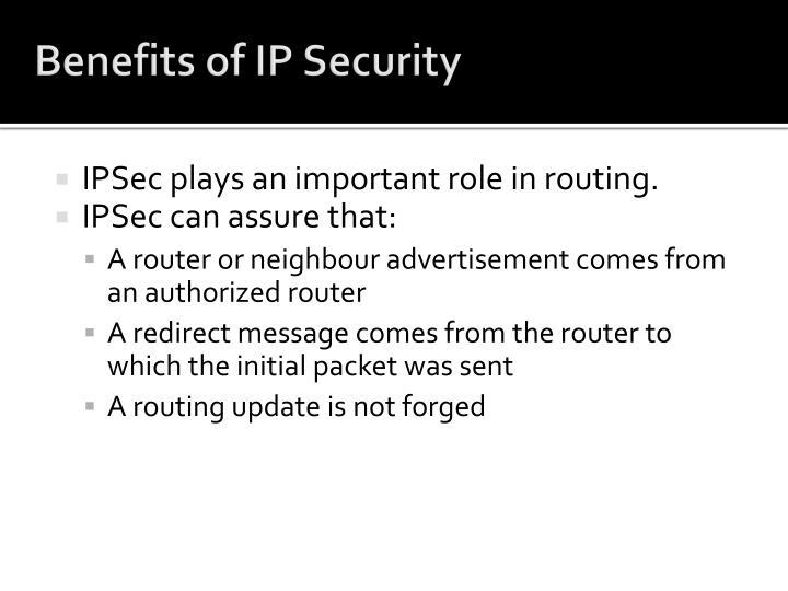Benefits of IP Security
