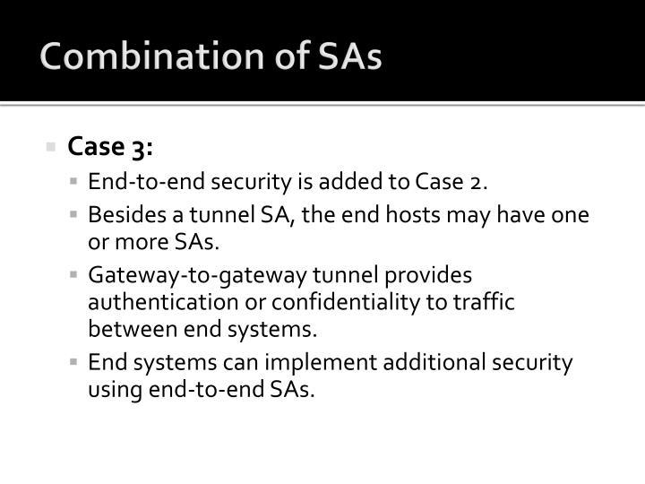 Combination of SAs
