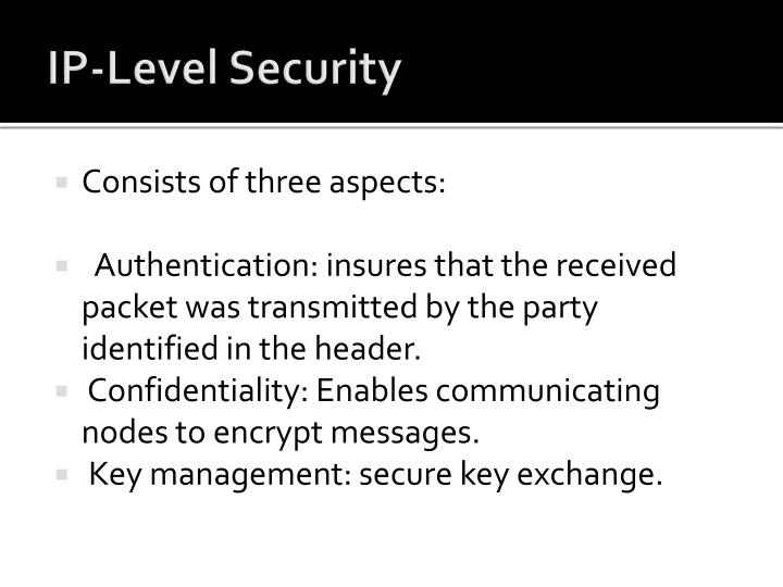 IP-Level Security