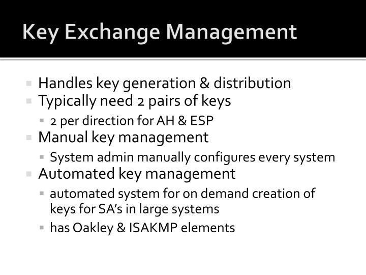 Key Exchange Management