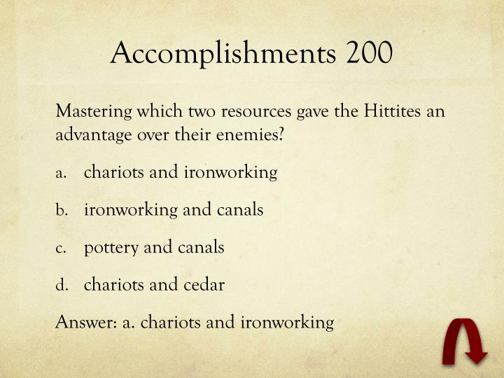 Accomplishments 200