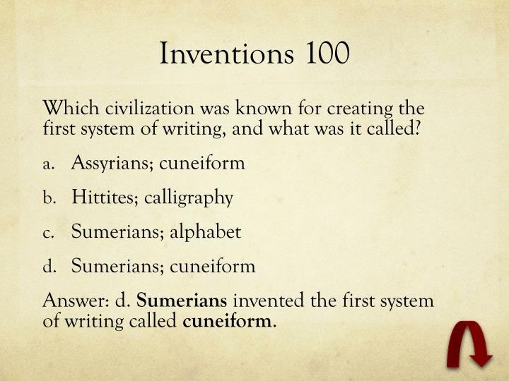 Inventions 100