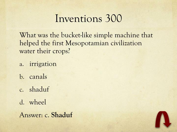 Inventions 300