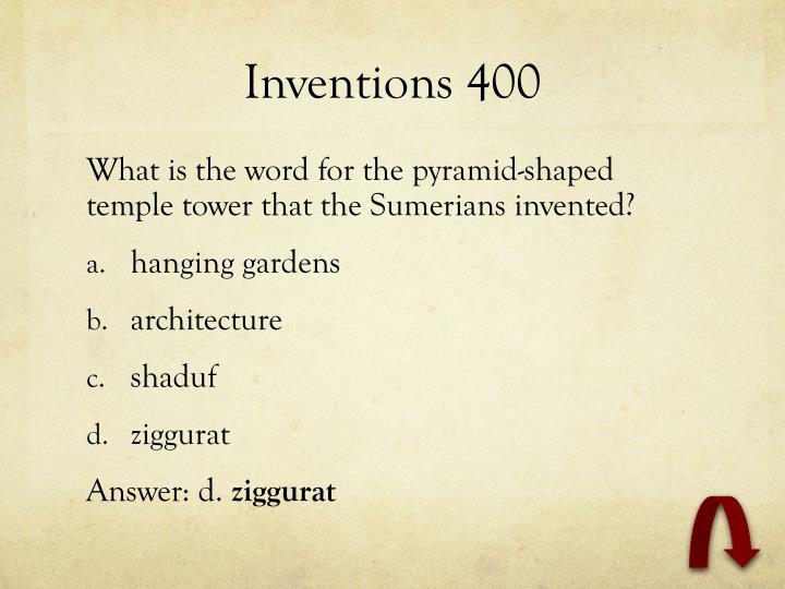 Inventions 400