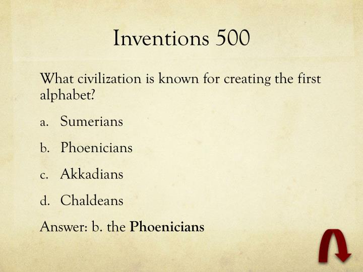 Inventions 500