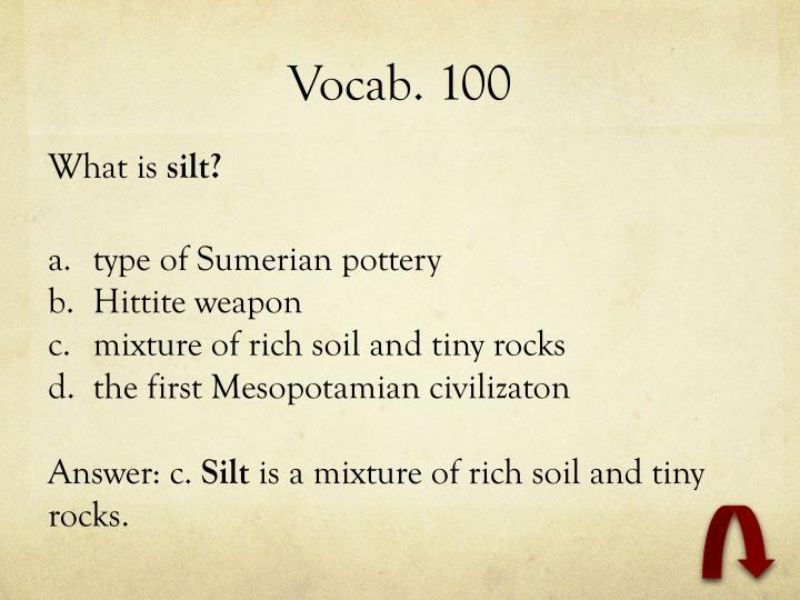 Vocab. 100