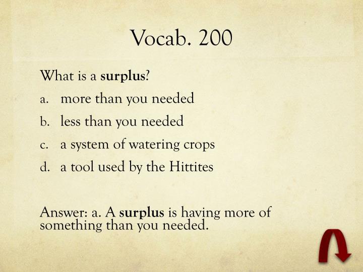 Vocab. 200