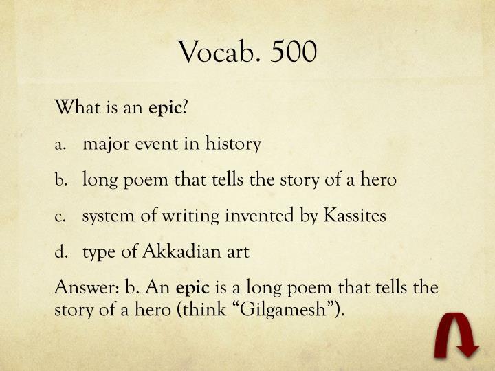 Vocab. 500