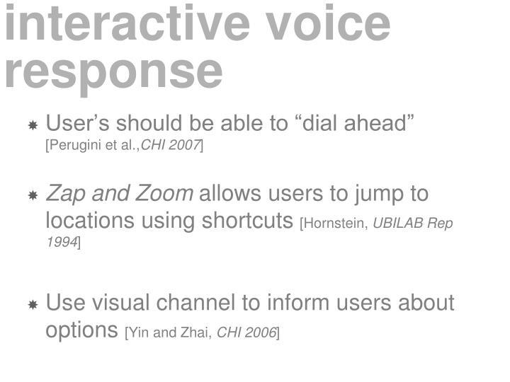 interactive voice