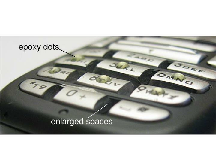 epoxy dots