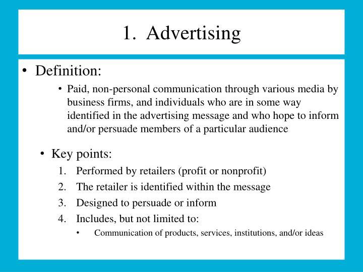 1.  Advertising