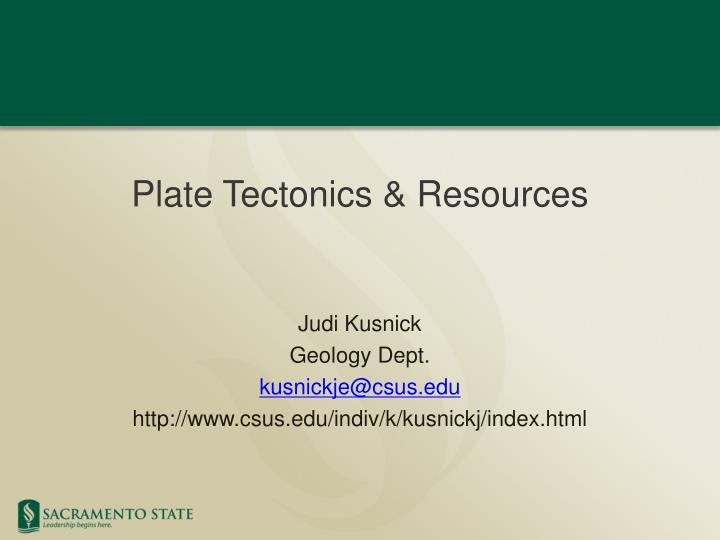 Plate tectonics resources