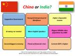 china or india