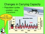 changes in carrying capacity