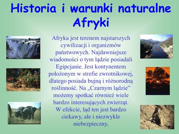 Historia i warunki naturalne Afryki