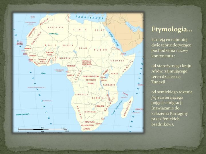 Etymologia…