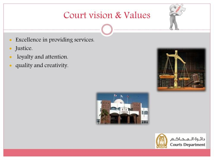 Court vision & Values