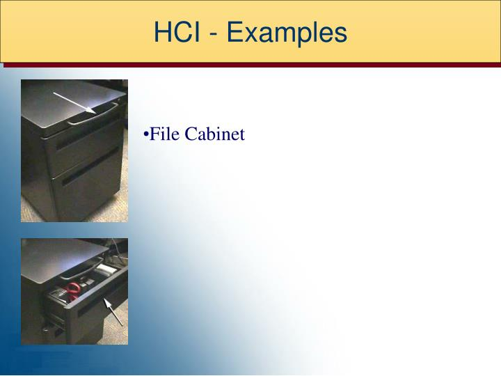 HCI - Examples