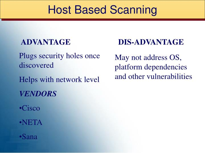 Host Based Scanning