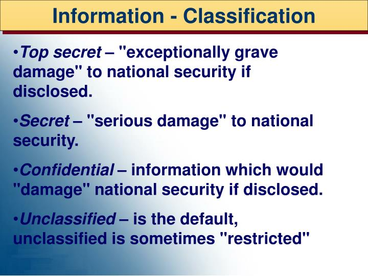Information - Classification