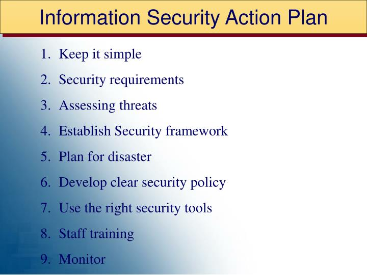 Information Security Action Plan