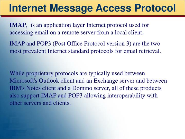 Internet Message Access Protocol