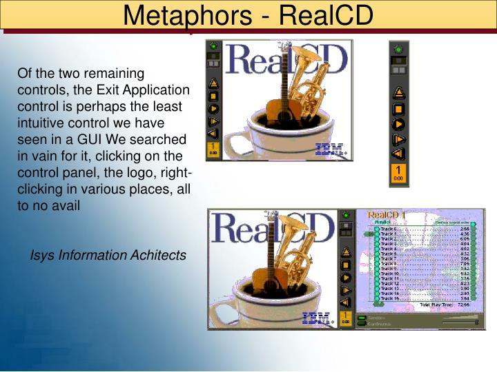 Metaphors - RealCD