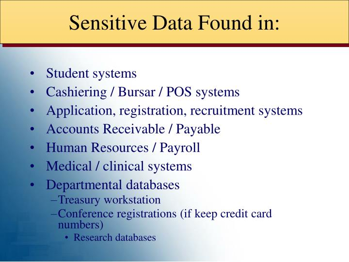 Sensitive Data Found in: